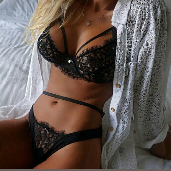 c1ccb2ddf508 Intimates & Sleepwear | Super Hot Sexy Strappy Black Lace Lingerie ...