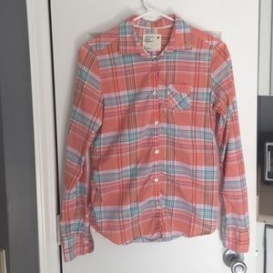 American eagle light weight plaid shirt