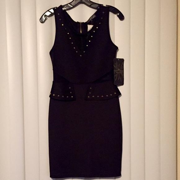 Dresses Black Dress With Gold Accessories Poshmark