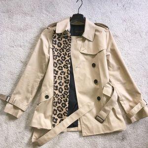 Coach Jackets & Coats - ➳ Coach Ocelot Leopard Short Trench Coat