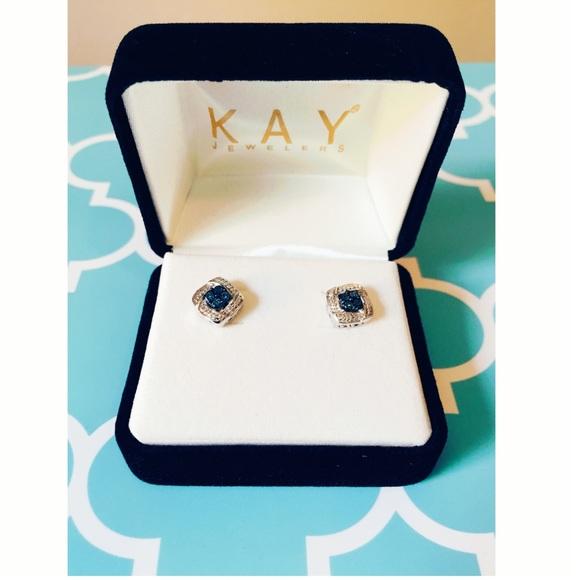 dbb4fa49f Kay Jewelers Jewelry   Blue Diamonds And White Diamond Earrings ...