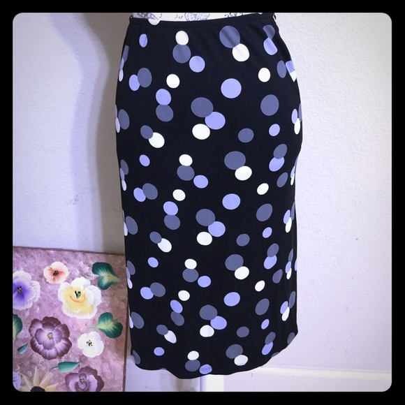 New York & Company Dresses & Skirts - NY&Co Black Dots Pencil Skirt [SK-40]