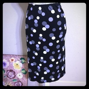 New York & Company Skirts - NY&Co Black Dots Pencil Skirt [SK-40]