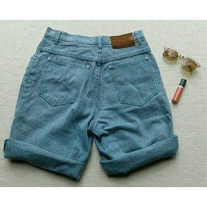 Vintage 10 High Waisted Jean Shorts Festival Boho