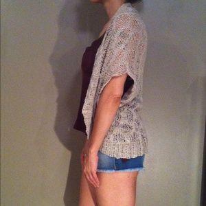  Open Knit Open Front Cardigan
