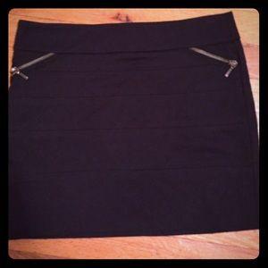 Zara Dresses & Skirts - BCBGeneration black mini skirt w/ zip detail