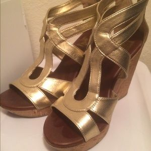 Gold Dolce Vita Wedge Sandals