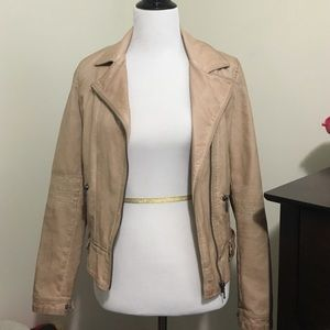 Faux Zara pink leather jacket - never worn
