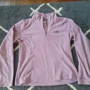 The North Face quarter zip fleece sweat shirt