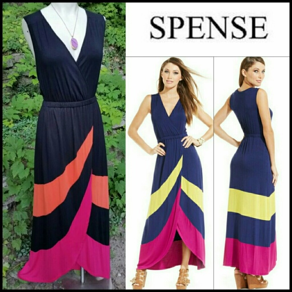 Spense colorblock maxi dress