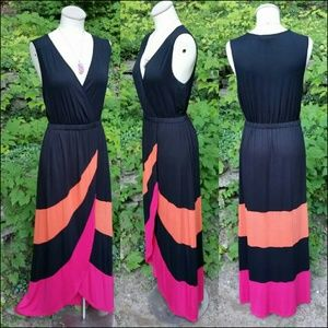 Spense colorblock maxi dress