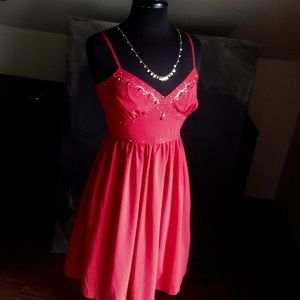 Red embellished Nicole by Nicole Miller dress sz 4