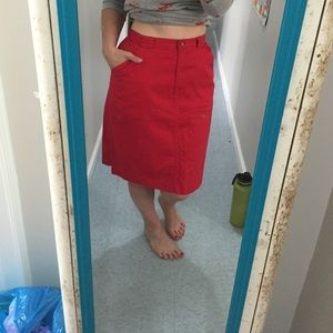 Vintage Charter Club Red Skirt