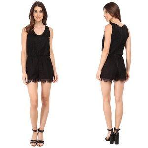 NWT Sam Edelman Black Lace Romper