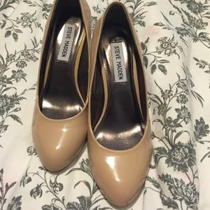 "Steve Madden nude heels size 6.5 ""p- gaine"""