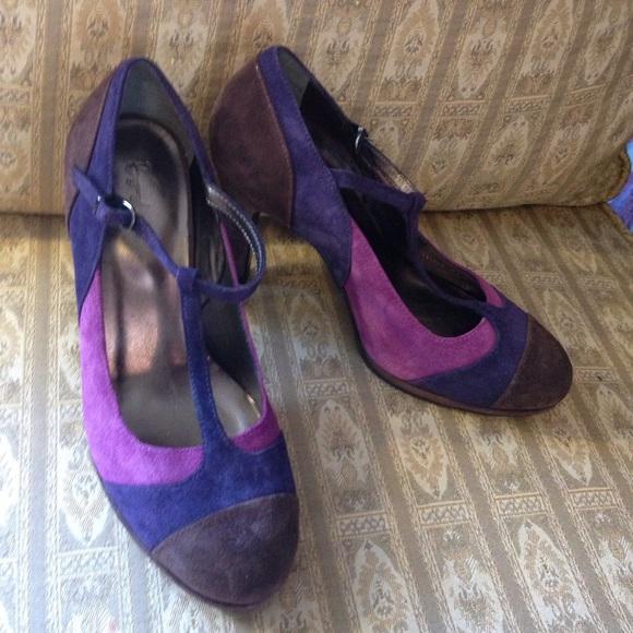 9053b5fc4 Boden Shoes - Boden Suede autumn-tone color block heels pumps 38