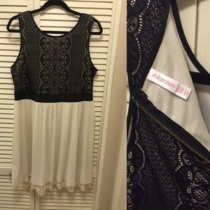 Black and White Lace Dress❤️