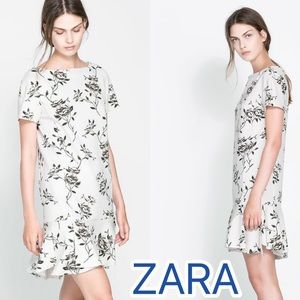 Host pick Zara Floral dress. Like new!