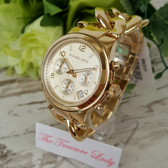 145b9cebed65 Michael Kors Runway twist watch MK3131 chrono gold