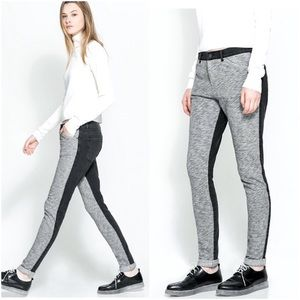 Zara sweats jogger denim back gray jeans