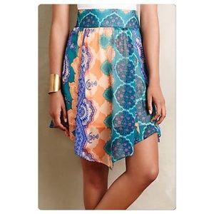 Anthropolgie Mandara Silk Skirt