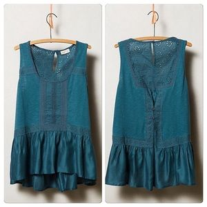 Anthropologie Lace Peplum Tank