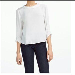 Zara round collar blouse