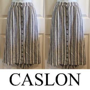 Caslon Dresses & Skirts - 🍍CLEARANCE🍍 Caslon Blue Striped Linen Skirt