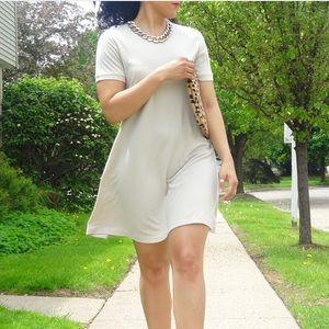 Dresses & Skirts - Beige Shirt Dress