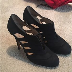 SALE!  Valentino Lace Up Black Pumps