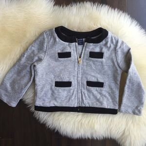 Baby Gap Contrast Zip Sweatshirt Jacket.