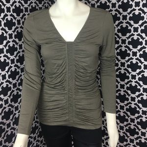 🆕LISTING Khaki Rouged Top