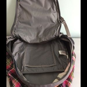 cb453f247c24c2 The North Face Bags - The North Face Pink PlaidBackpack