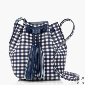 J. Crew Handbags - New J.Crew Mini a Bucket Bag in Gingham