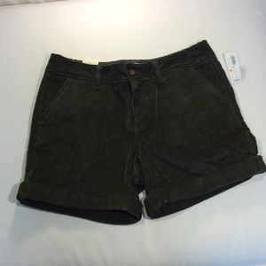 Old Navy Olive Green Low Rise Corduroy Shorts, 4