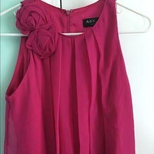 ABS Allen Schwartz Dresses & Skirts - Hot pink silk dress