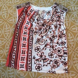 Anthropologie Beaded Knit Top