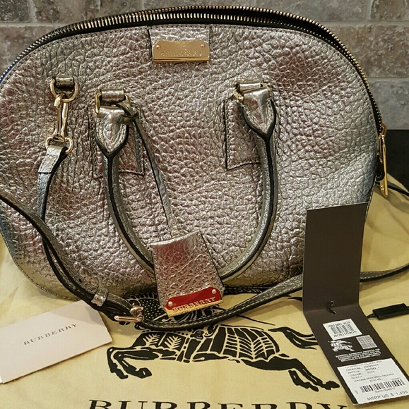 Burberry Bags Metallic Heritage Sm Orchard Bowling Bag