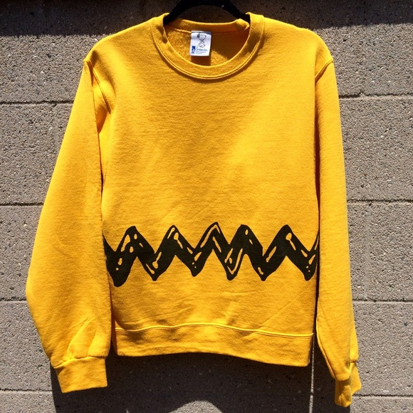 58% off Sweaters - Peanuts Charlie Brown Crewneck Sweater from ...