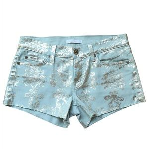 7 For All Mankind Pants - 7 for all mankind The Cut Off Foiled Mini Short