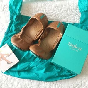 Tieks in Chestnut/Camel