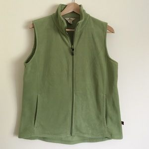 Woolrich Jackets & Blazers - Woolrich M polar fleece zip up vest green