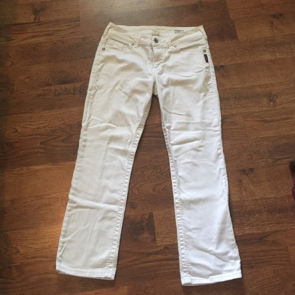 79% off Silver Jeans Denim - Silver Jeans - White Suki Capri from ...