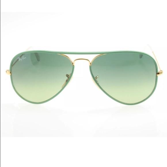 a130e6e128fc9 Ray Ban 3025JM Full Color Green Aviator Sunglasses.  M 57aa3f39bcd4a7419406bcbc