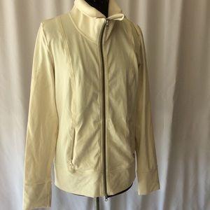 Lulu lemon cream jacket size 8