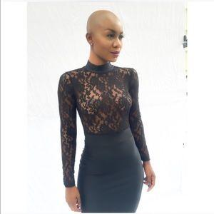 Dresses & Skirts - LACE TOP BLACK DRESS