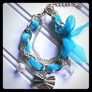 Jewelry - Adorable Blue Charm Bracelet