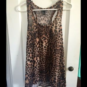 H&M Cheetah Print Tank Top