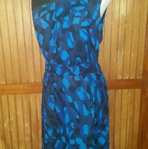 Black & Blue Sheath Dress