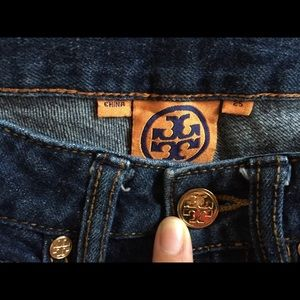 Tory burch cropped super skinny jeans